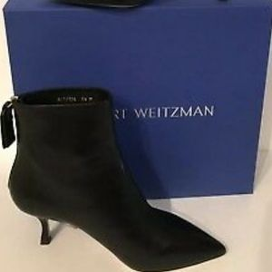STUART WEITZMANJUNIPER 70 BLACK LEATHER BOOTIES